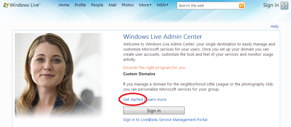 Windows-Live-Admin-Center
