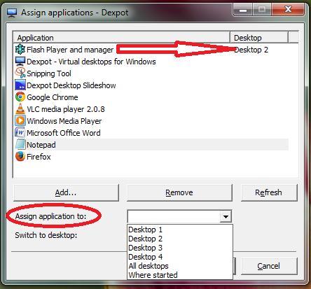 dexpot-for-multiple-virtual-desktop-for-window-assign-application