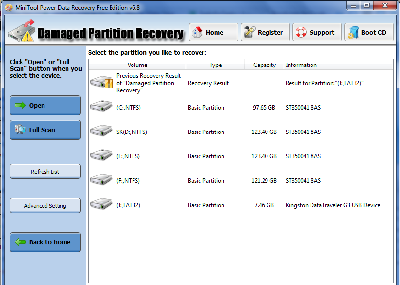 Recover-data-from-damaged-partition-using-minitool-power-data-recovery-for-free