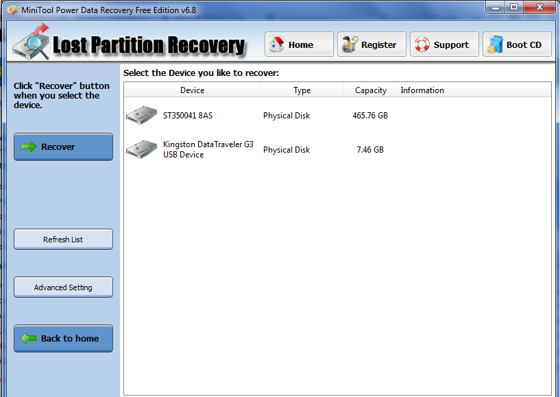 Recover-data-from-lost-partition-using-minitool-power-data-recovery-for-free