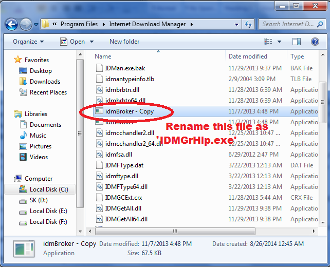 rename-idmBroker-exe-file-to-IDMGrHlp-exe-located-in-internet-download-manager-to-resolve-IDM-has-been-registered-with-fake-serail-number-pop-