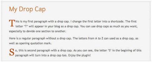 my-drop-cap-wordpress-plugin-beautify-blog-post
