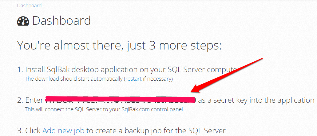 Install-sqlback-application-with-secret-key
