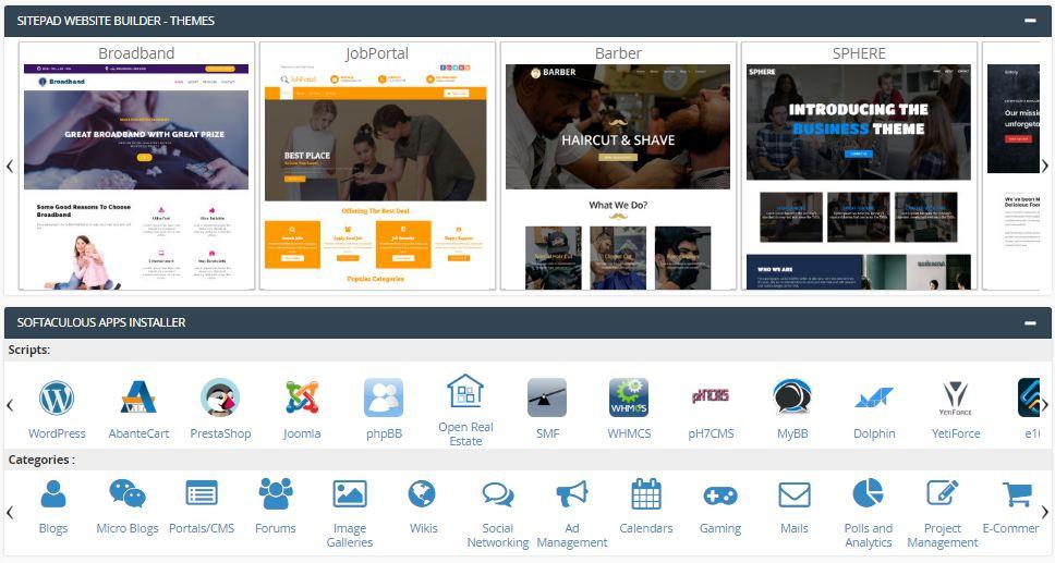 interserver-website-builder-softaculous